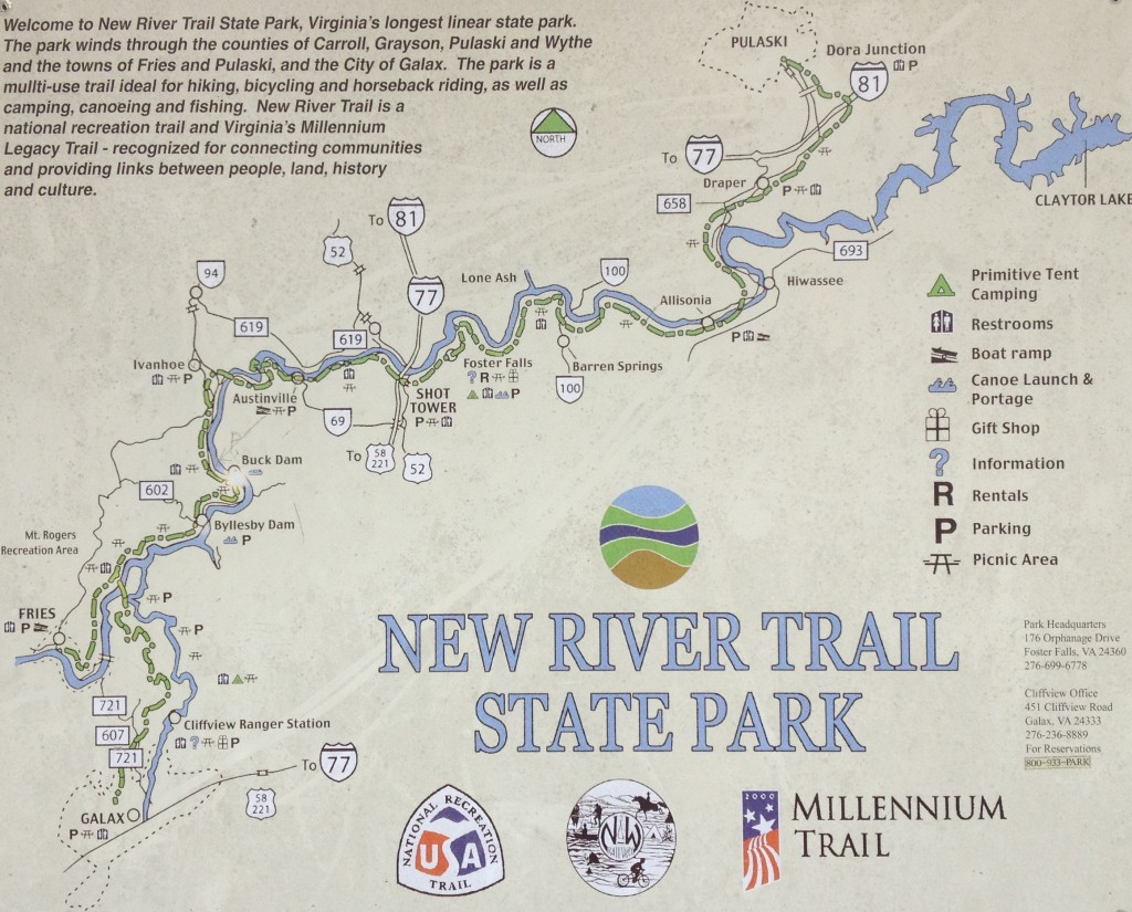 Great bike path in Virginia... New River Trail State Park.