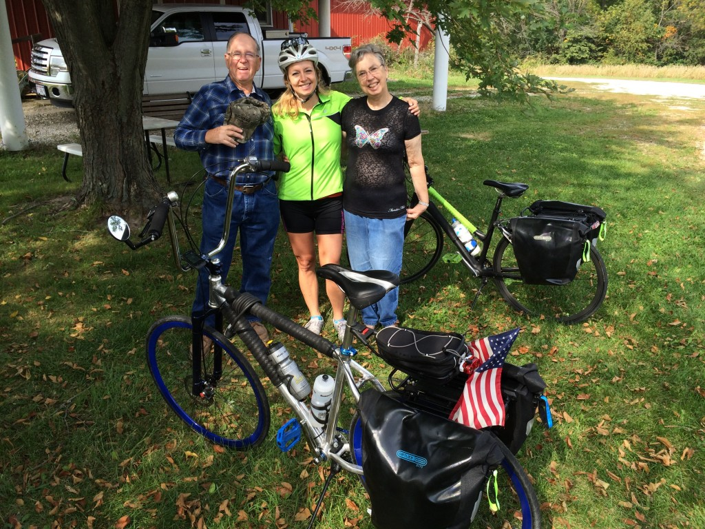 We started our 100+ mile trek from Aunt Toni and Uncle Jon's farm in Princeville, IL.