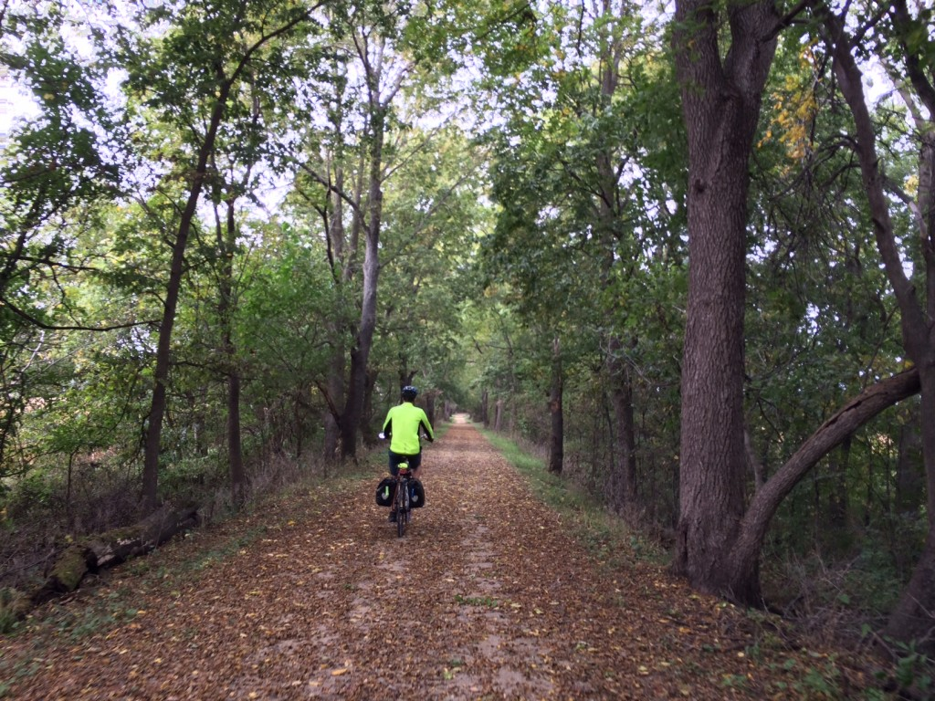 A midwestern bike adventure... Part 1.  Here on part of the Rock Island trail in central Illinois.