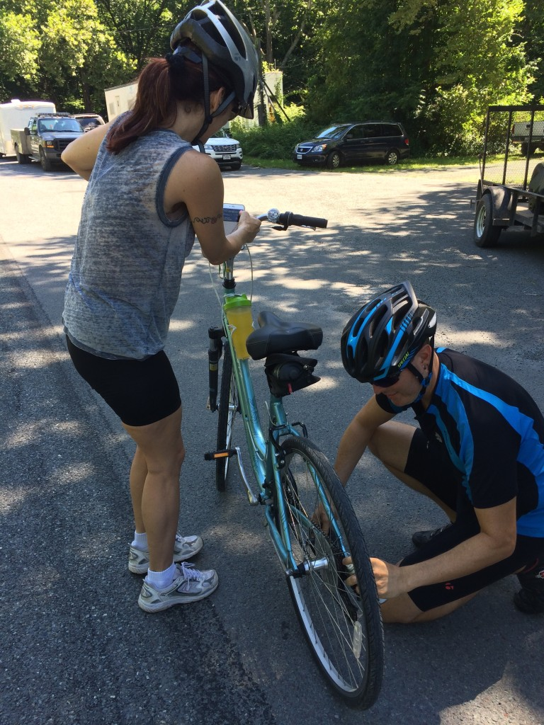 Fixing the derailleur and resetting the chain.
