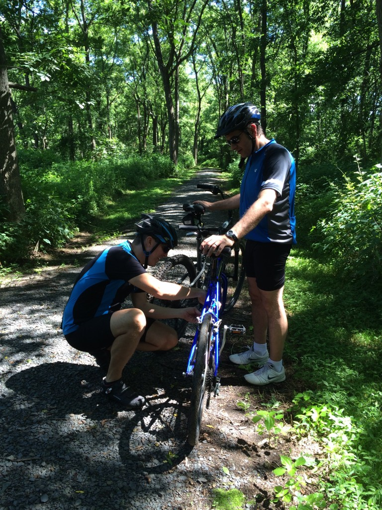 Gear issues on a Pennsylvania trail.