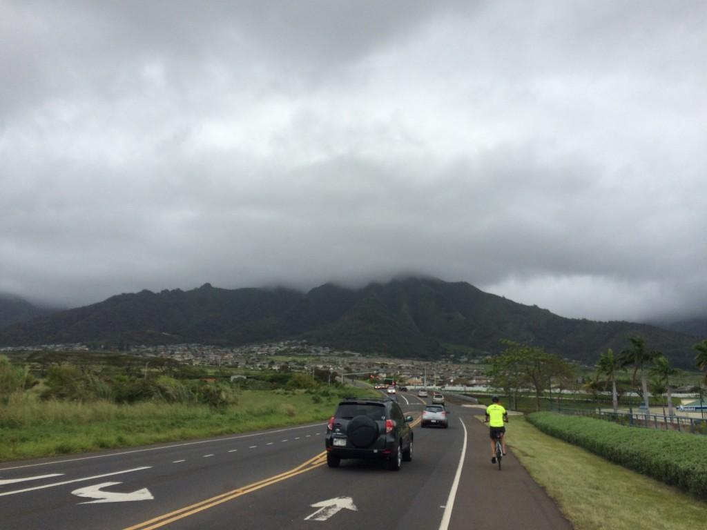 Heading up the hill towards Waikapu.