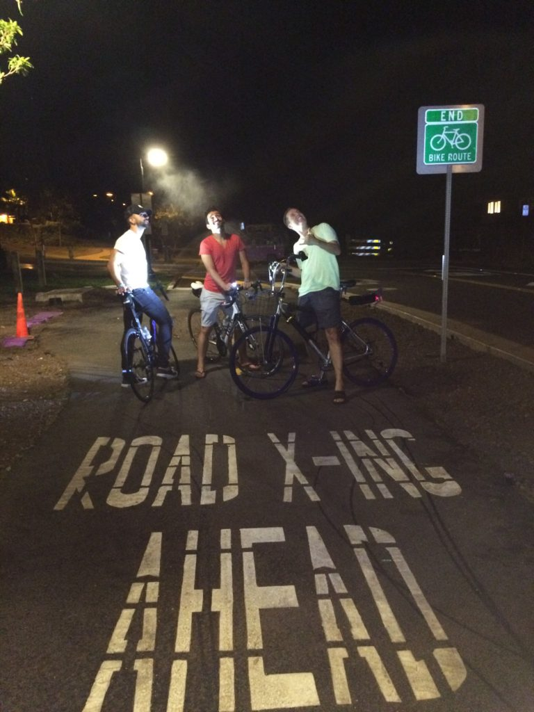 Just a couple of idiots on one of Mauis many bike trails.