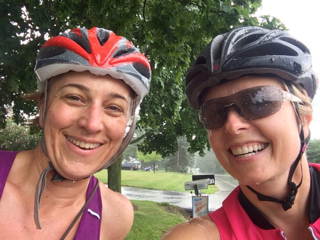 What a day for a ride... sunny, rainy, then sunny again. Dawn and I enjoyed the journey and found balance.
