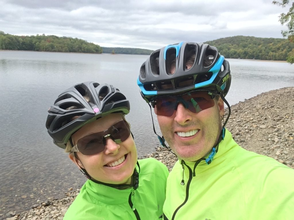 Stolen moment.. just us two at Clinton Reservoir.
