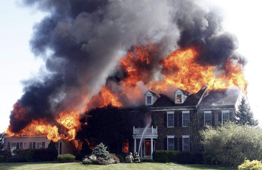 The homeowners escaped safely, but several firefighters were hospitalized and the house was demolished. (Just a reminder that when things go wrong for you, you need to remember that things can always be worse...)