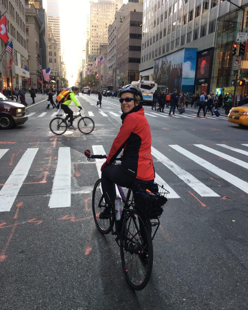 As the sun goes down, we head home via Fifth Ave. Tomorrow we'll bike again...