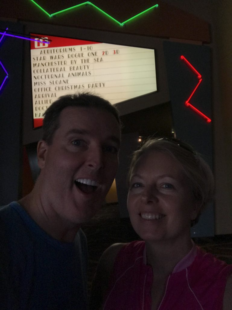 After waiting about an hour, we got new tickets for a different showing and actually got in to see the movie! Ron loved it!!