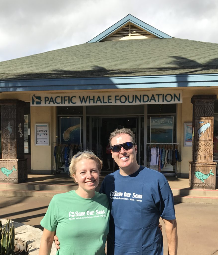 We volunteered at the Pacific Whale Foundation.